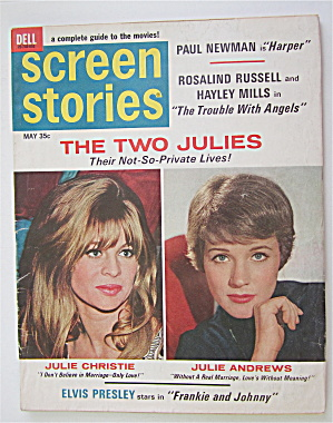 Screen Stories Magazine May 1966 The Two Julies