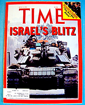 Time Magazine-june 21, 1982-israel's Blitz