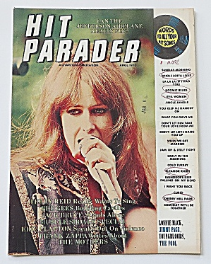Hit Parader April 1970 Jefferson Airplane
