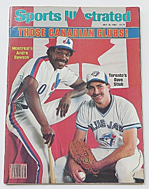 Sports Illustrated July 18, 1983 Dawson & Stieb