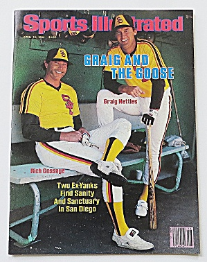 Sports Illustrated April 16, 1984 Gossage & Nettles