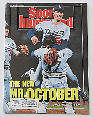 Sports Illustrated October 31, 1988 Orel Hershiser
