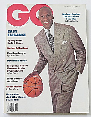 Gentlemen's Quarterly March 1989 Michael Jordan