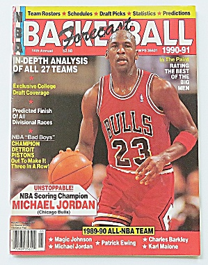 Basketball Forecast Magazine 1990-1991 Michael Jordan