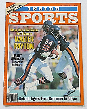 Inside Sports October 1984 Walter Payton