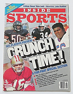 Inside Sports January 1991 Crunch Time