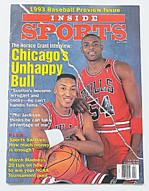 Inside Sports April 1993 Horace Grant & Scottie Pippen