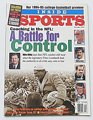 Inside Sports December 1994 Coaching In The Nfl