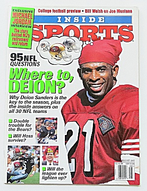 Inside Sports August 1995 Deion Sanders