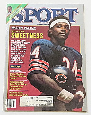 Sport Magazine October 1984 Sweetness: Walter Payton
