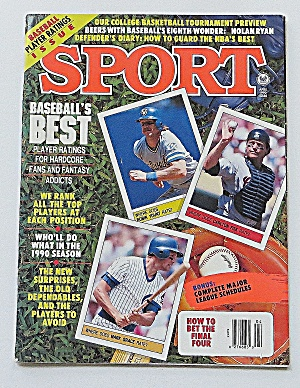 Sport Magazine April 1990 Baseball's Best