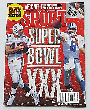 Sport Magazine February 1996 Super Bowl Xxx