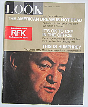 Look Magazine July 9, 1968 Rfk & Humphrey