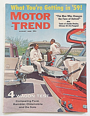 Motor Trend Magazine August 1958 4 Wagon Test