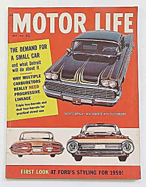 Motor Life Magazine May 1958 Ford's Styling