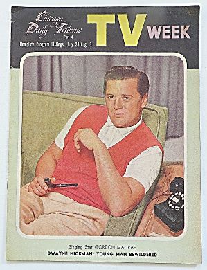 Tv Week July 28-august 3, 1956 Gordon Macrae