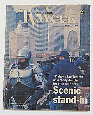 Tv Week July 23-29, 1995 Scenic Stand In Robocop
