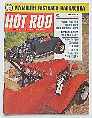 Hot Rod Magazine July 1964 Plymouth Fastback