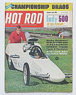 Hot Rod Magazine August 1964 Championship Drags
