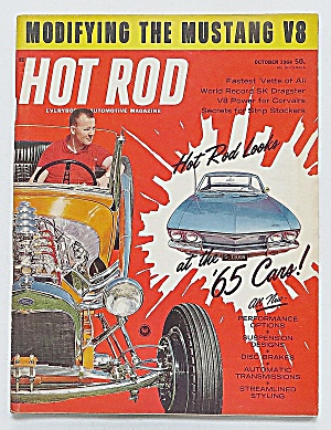 Hot Rod Magazine October 1964 Modifying Mustang V8