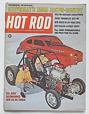Hot Rod Magazine Sept 1967 Chevy's Zora Arkus
