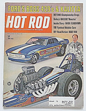 Hot Rod Magazine June 1969 Ford's Boss 429's