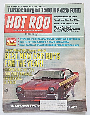 Hot Rod Magazine Sept 1971 Turbo Charged 1500