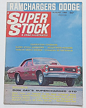 Super Stock & Drag Magazine August 1966 Ramchargers