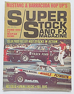Super Stock & Fx January 1966 Mustang & Barracuda