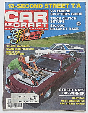 Car Craft Magazine November 1981 13-second Street T/a