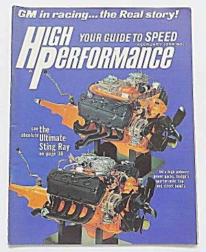High Performance February 1966 Sting Ray