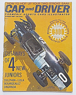 Car & Driver Magazine August 1961 Dolphin