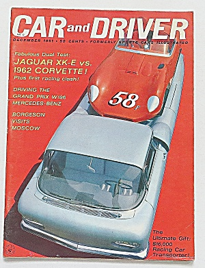 Car & Driver Magazine December 1961 Jag Vs. Corvette