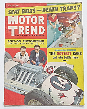 Motor Trend Magazine June 1957 Hottest Cars