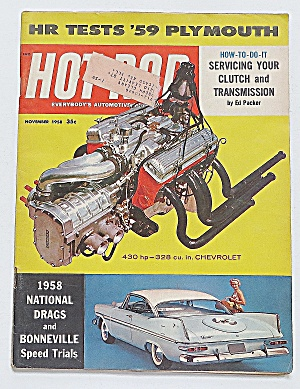 Hot Rod Magazine November 1958 Hr Tests 1959 Plymouth