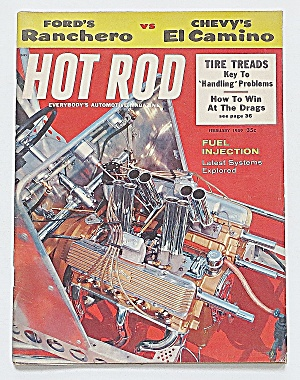 Hot Rod Magazine February 1959 Ranchero Vs. El Camino