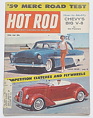 Hot Rod Magazine April 1959 Merc Road Test