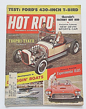 Hot Rod Magazine July 1959 Ford's 430-inch T-bird