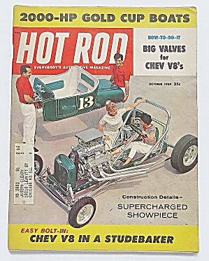 Hot Rod Magazine October 1959 2000 Hp Gold Cup Boats