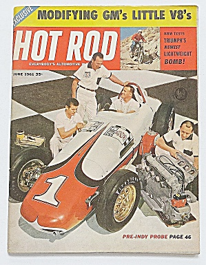 Hot Rod Magazine June 1961 Modifying Gm's Little V8's