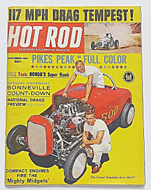 Hot Rod Magazine Sept 1962 117 Mph Drag Tempest