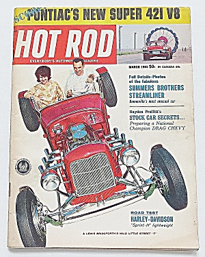 Hot Rod Magazine March 1963 Pontiac's New Super 421 V8