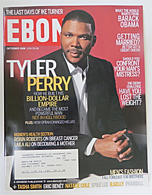 Ebony Magazine October 2008 Tyler Perry
