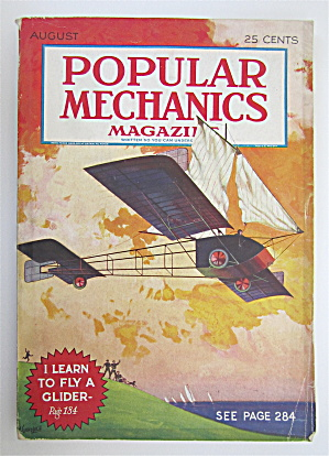 Popular Mechanics Magazine August 1930 Fly A Glider