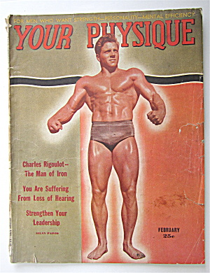 Your Physique Magazine February 1948 Allan Paivio