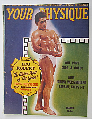 Your Physique Magazine March 1948 Leo Robert