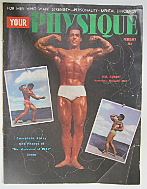 Your Physique Magazine February 1949 Leo Robert