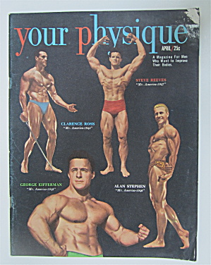 Your Physique Magazine April 1950 Reeves, Ross & More