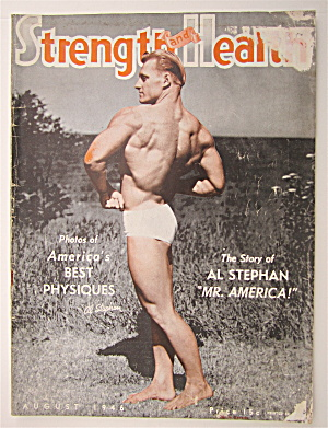 Strength & Health Magazine August 1946 Al Stephan