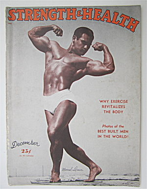 Strength & Health Magazine December 1948 Manuel Drown